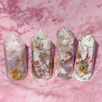 Little Cherry Blossom Agate Towers