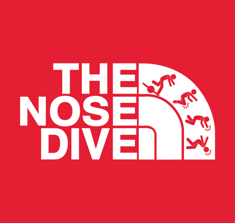 The Nose Dive - sticker!