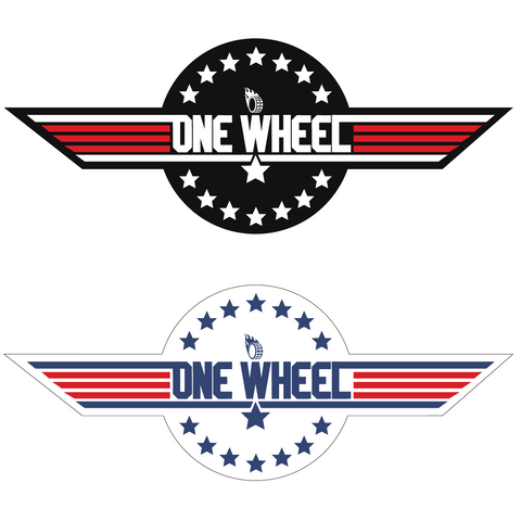 Top Gun/Onewheel mashup sticker