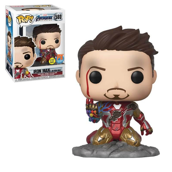 Avengers: Endgame I Am Iron Man Glow-in-the-Dark Deluxe Pop!  - PX (Preview Exclusive)