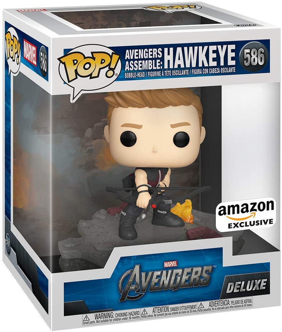Funko Pop! Deluxe, Marvel: Avengers Assemble Series - Hawkeye, Amazon Exclusive