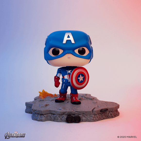 Funko Pop! Deluxe, Marvel: Avengers Assemble Series - Capitan America Amazon Exclusive