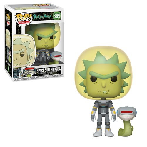 Rick and Morty Space Suit Rick With Snake Pop!