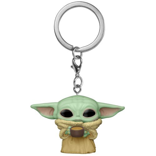 Star Wars: The Mandalorian The Child (Baby Yoda - Grogu) with Cup Pop! Key Chain