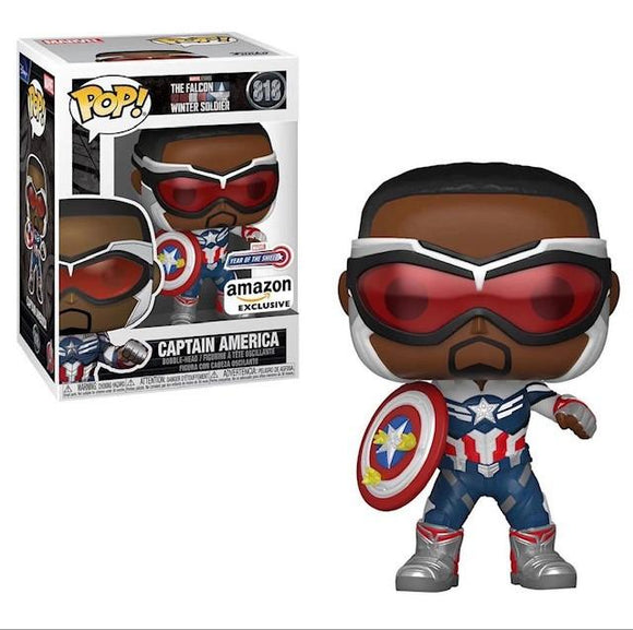 Marvel: Falcon and The Winter Soldier - Captain America (Sam Wilson) with Shield (Year of The Shield) Amazon Exclusive (Pre-Venta Aficionados)