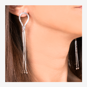 LONG SILVER EARRINGS