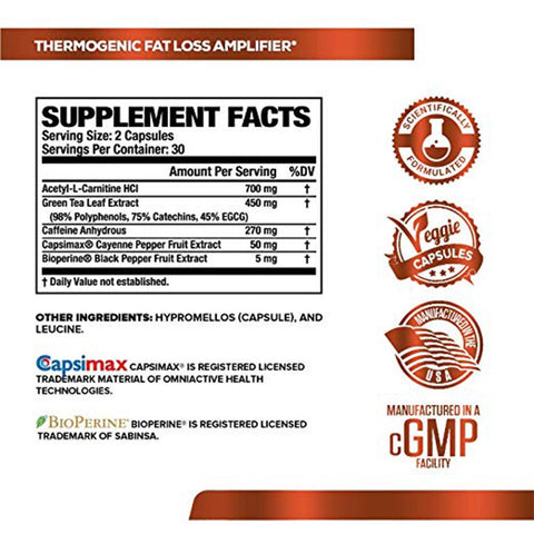 Image of BURN XT Thermogenic Fat Burner | 60 Natural Veggie Diet Pills