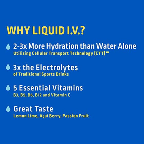 Liquid I.V. Hydration Multiplier, Electrolyte Powder, Easy Open Packets, Supplement Drink Mix