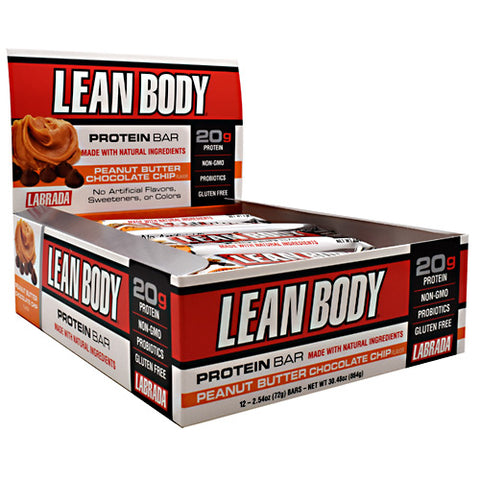Labrada Nutrition Lean Body Protein Bar Peanut Butter Chocolate Chip - Gluten Free
