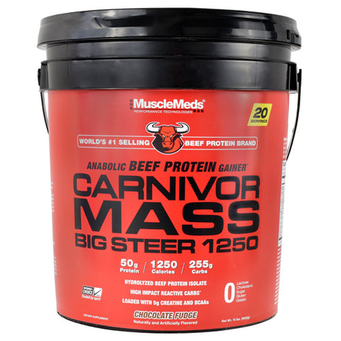 Muscle Meds Carnivor Mass Big Steer 1250 Chocolate Fudge