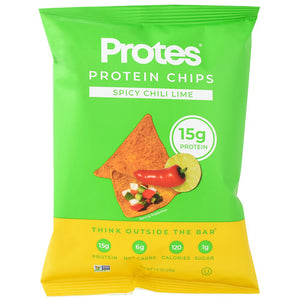 Protes Protein Chips Spicy Chili Lime - Gluten Free