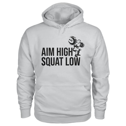 Aim High Squat Low Hoodie - Ash Grey / S - Hoodies