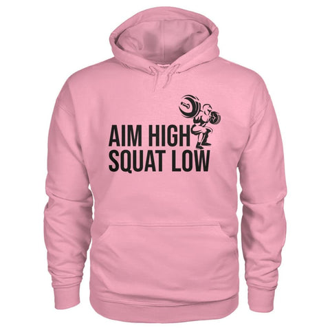 Aim High Squat Low Hoodie - Classic Pink / S - Hoodies