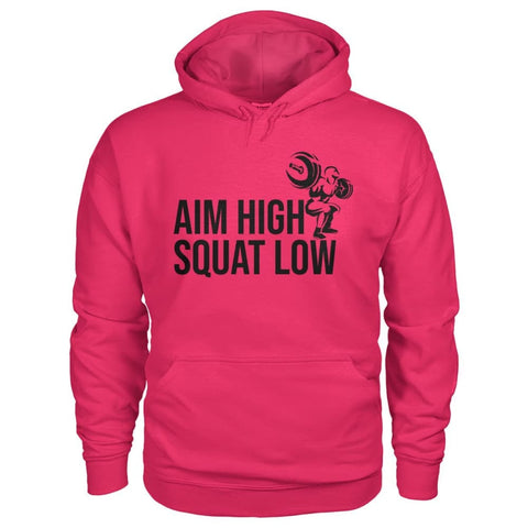Aim High Squat Low Hoodie - Heliconia / S - Hoodies