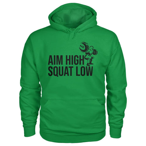 Aim High Squat Low Hoodie - Irish Green / S - Hoodies