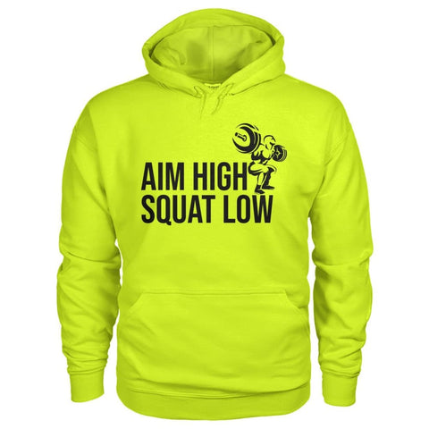 Aim High Squat Low Hoodie - Safety Green / S - Hoodies
