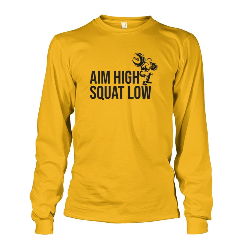 Aim High Squat Low Long Sleeve - Gold / S - Long Sleeves