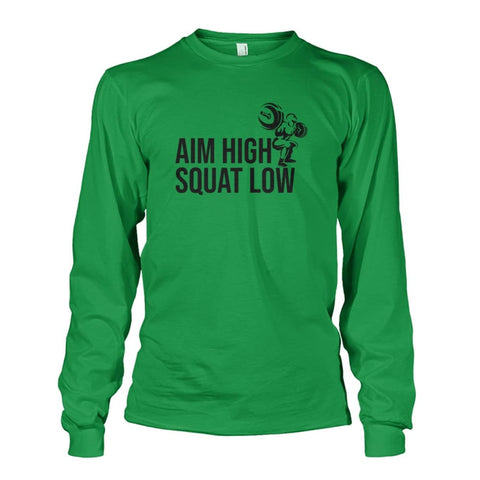 Image of Aim High Squat Low Long Sleeve - Irish Green / S - Long Sleeves