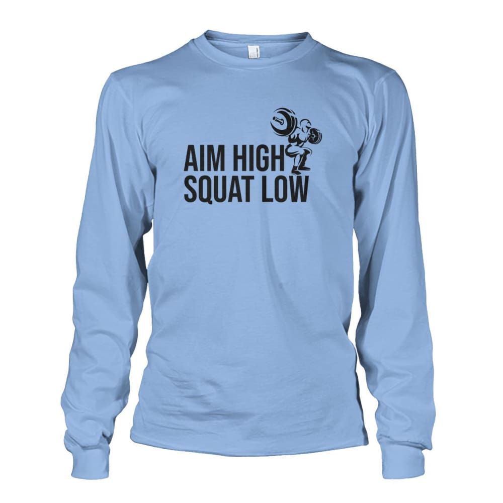 Aim High Squat Low Long Sleeve - Light Blue / S - Long Sleeves