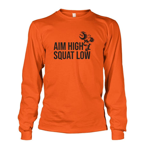 Image of Aim High Squat Low Long Sleeve - Orange / S - Long Sleeves
