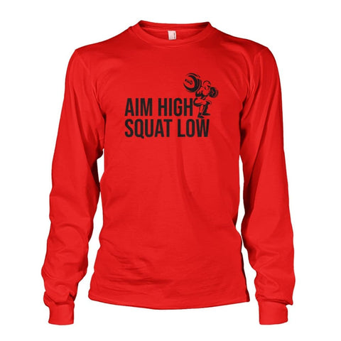 Aim High Squat Low Long Sleeve - Red / S - Long Sleeves
