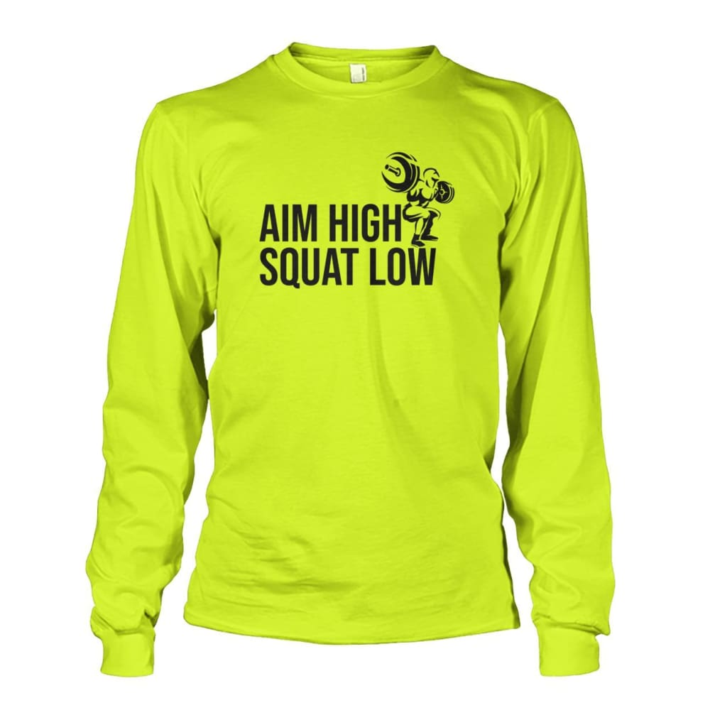 Aim High Squat Low Long Sleeve - Safety Green / S - Long Sleeves