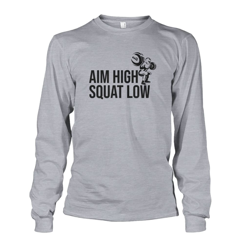 Aim High Squat Low Long Sleeve - Sports Grey / S - Long Sleeves