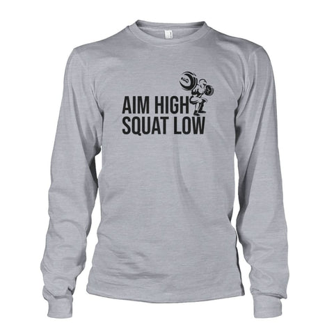 Image of Aim High Squat Low Long Sleeve - Sports Grey / S - Long Sleeves