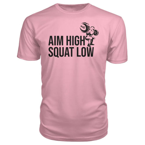 Aim High Squat Low Premium Tee - Charity Pink / S - Short Sleeves