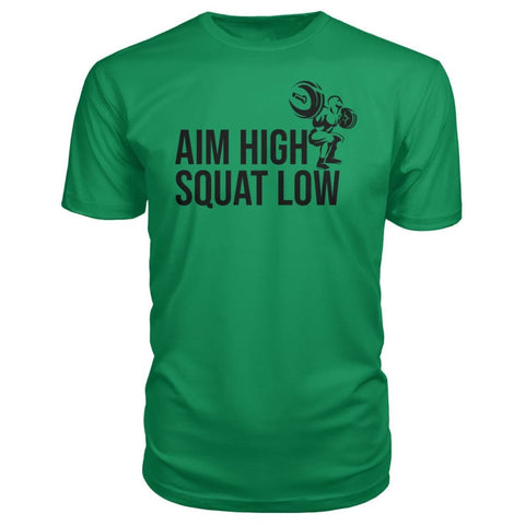 Image of Aim High Squat Low Premium Tee - Green Apple / S - Short Sleeves