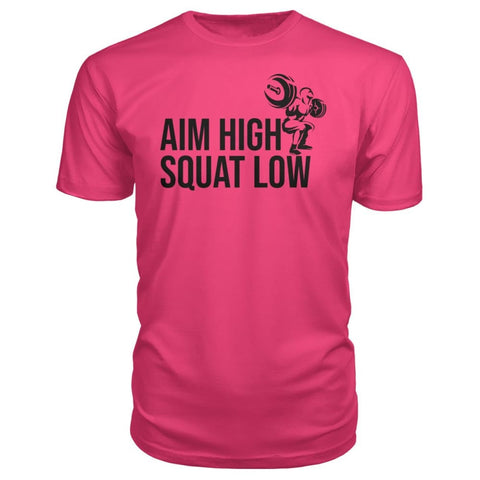 Aim High Squat Low Premium Tee - Hot Pink / S - Short Sleeves