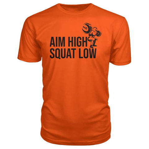 Aim High Squat Low Premium Tee - Orange / S - Short Sleeves
