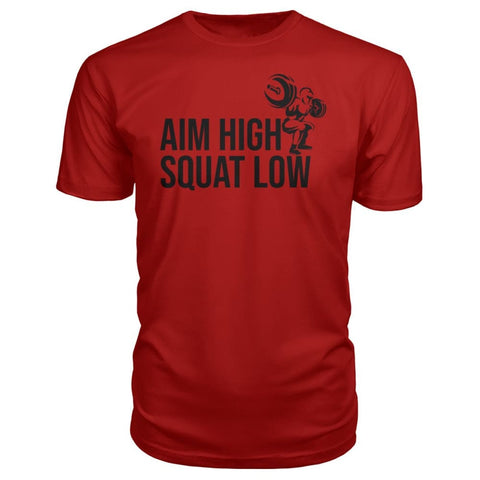 Image of Aim High Squat Low Premium Tee - Red / S - Short Sleeves