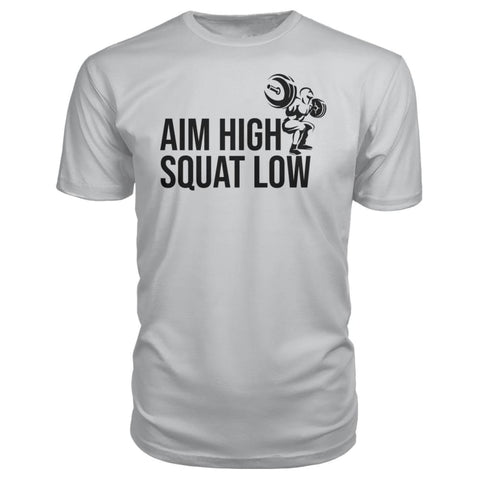 Aim High Squat Low Premium Tee - Silver / S - Short Sleeves