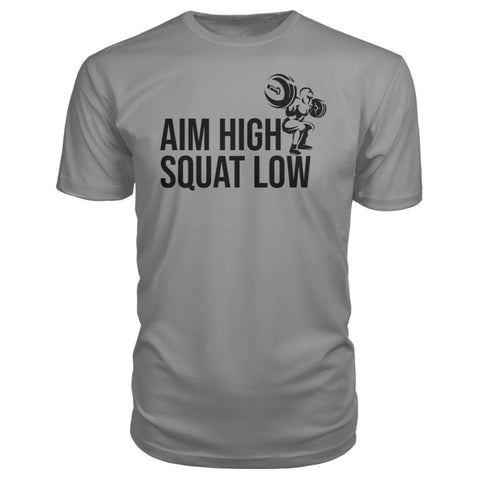 Image of Aim High Squat Low Premium Tee - Storm Grey / S - Short Sleeves