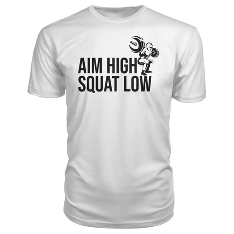 Image of Aim High Squat Low Premium Tee - White / S - Short Sleeves