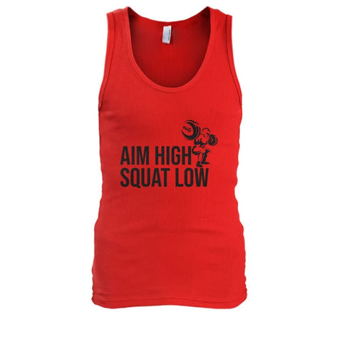 Aim High Squat Low Tank - Red / S - Tank Tops
