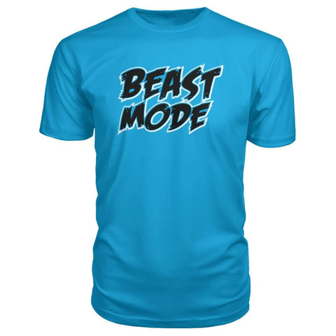 Beast Mode Premium Tee - Carribean Blue / S - Short Sleeves