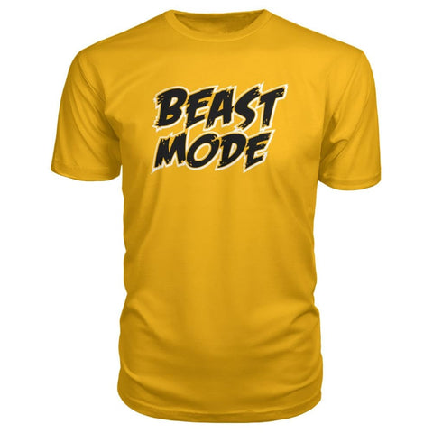 Image of Beast Mode Premium Tee - Gold / S - Short Sleeves