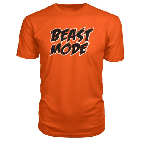 Beast Mode Premium Tee - Orange / S - Short Sleeves