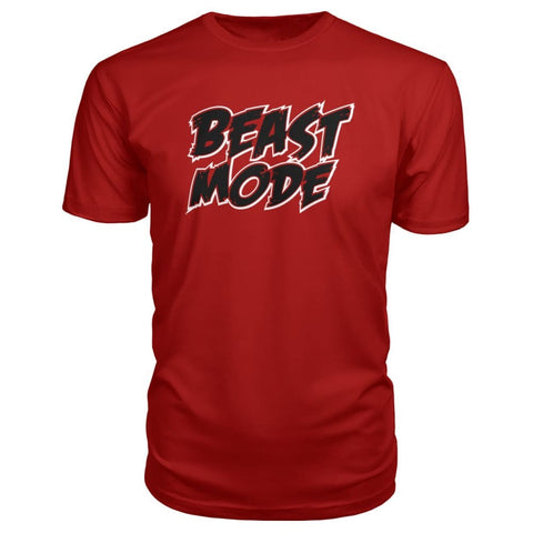 Beast Mode Premium Tee - Red / S - Short Sleeves