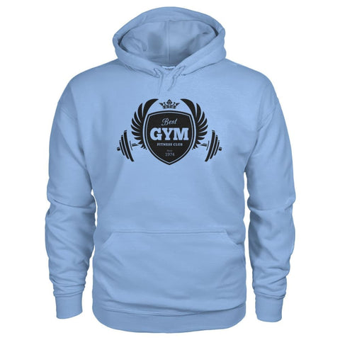 Best Gym Hoodie - Light Blue / S - Hoodies