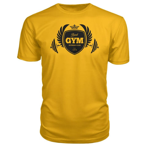 Best Gym Premium Tee - Gold / S - Short Sleeves