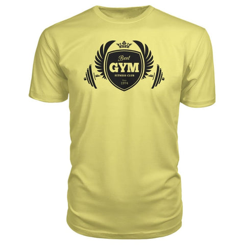 Image of Best Gym Premium Tee - Spring Yellow / S - Short Sleeves