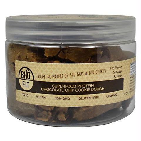 Bhu Foods BHU FIT Protein Cookie Dough Chocolate Chip - Gluten Free - Chocolate Chip / 10 oz - Snacks / Foods