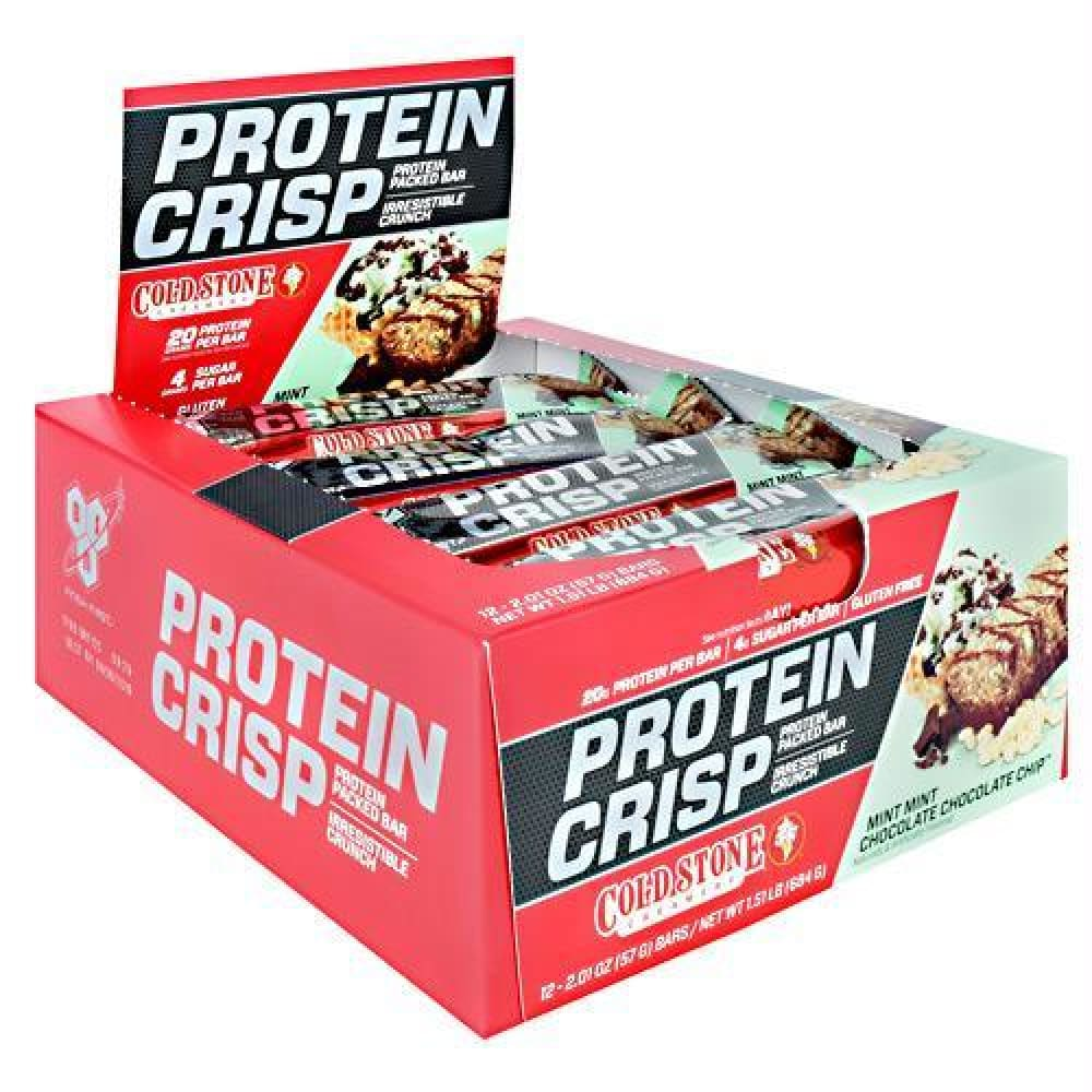 BSN Cold Stone Creamery Protein Crisps Mint Mint Chocolate Chocolate Chip - Gluten Free - Mint Mint Chocolate Chocolate Chip / 12 ea - Bars
