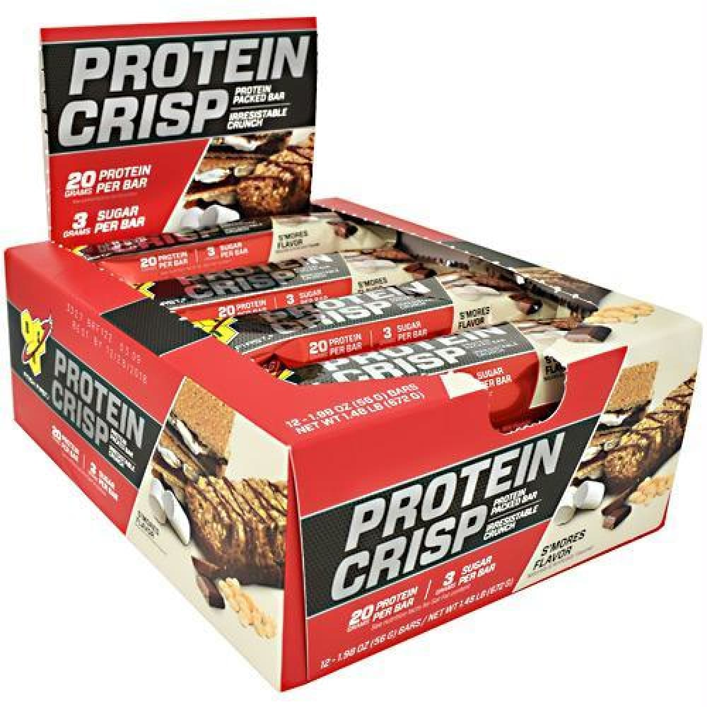 BSN Protein Crisps Candy Cane - Gluten Free - Smores / 12 ea - Bars