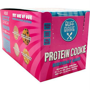 Buff Bake Protein Cookie Chocolate Donut - Gluten Free - Birthday Cake / 12 ea - Snacks / Foods