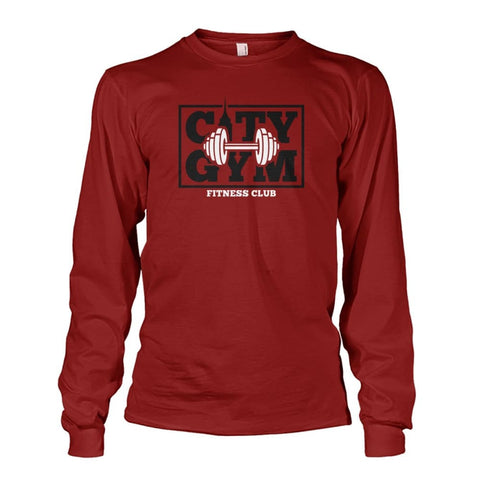 Image of City Gym Long Sleeve - Cardinal Red / S - Long Sleeves