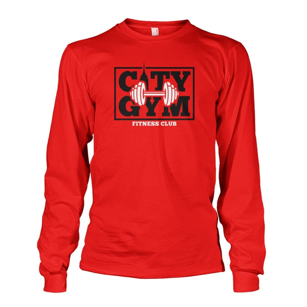 City Gym Long Sleeve - Red / S - Long Sleeves